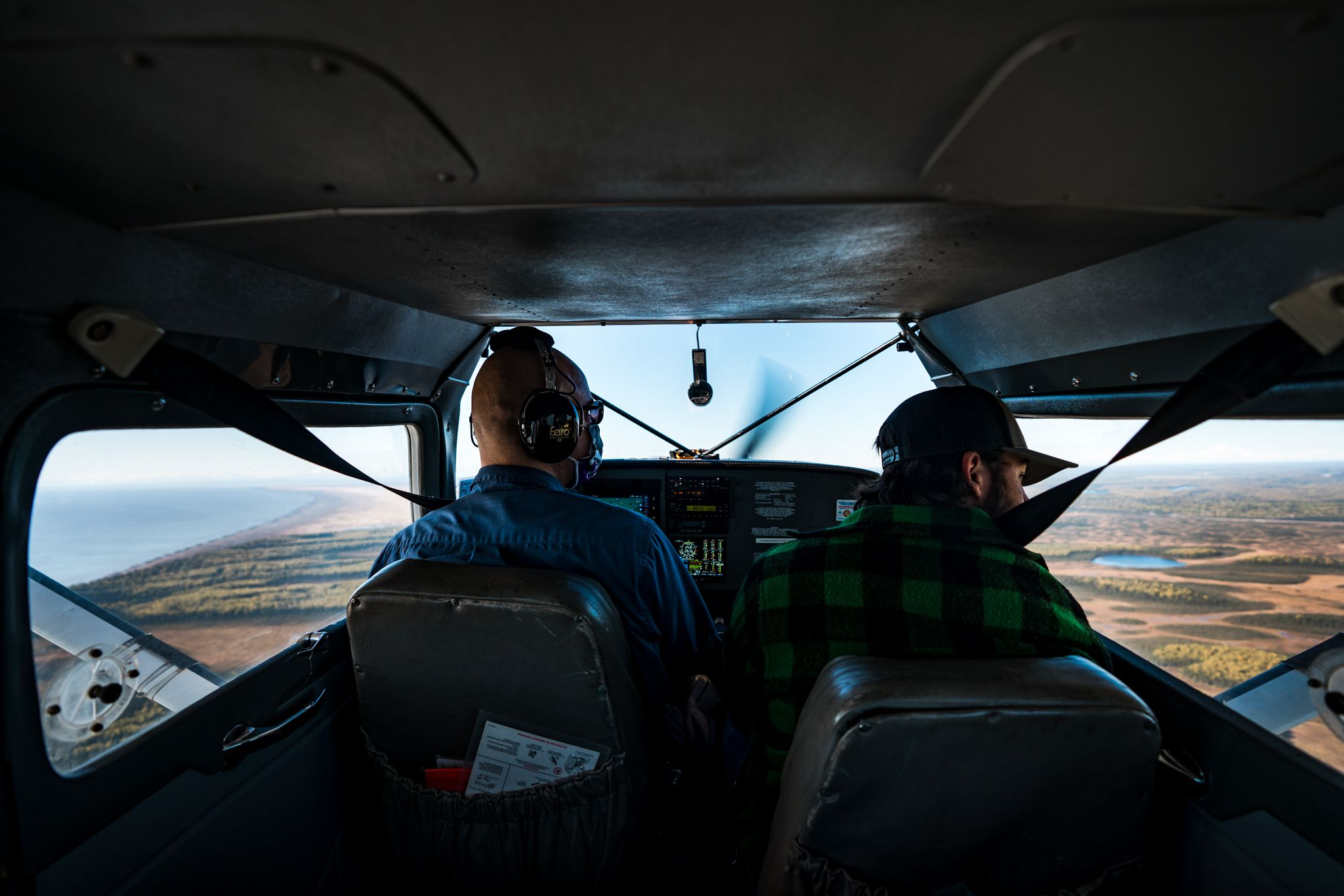 flying to a remote alaskan river